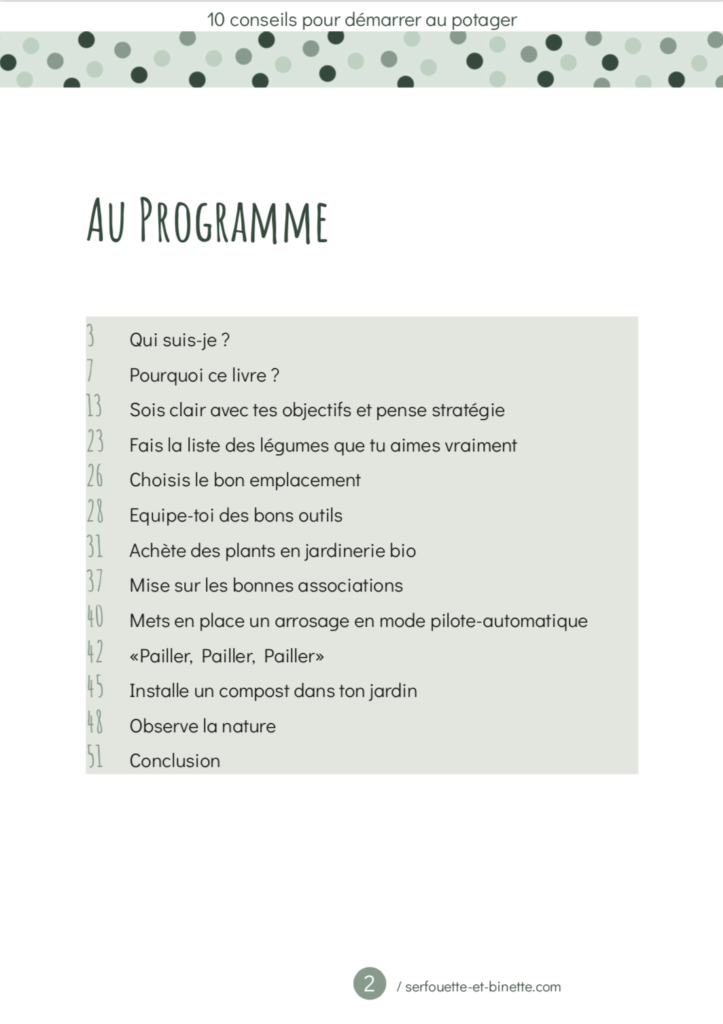 Sommaire Guide 10 Conseils