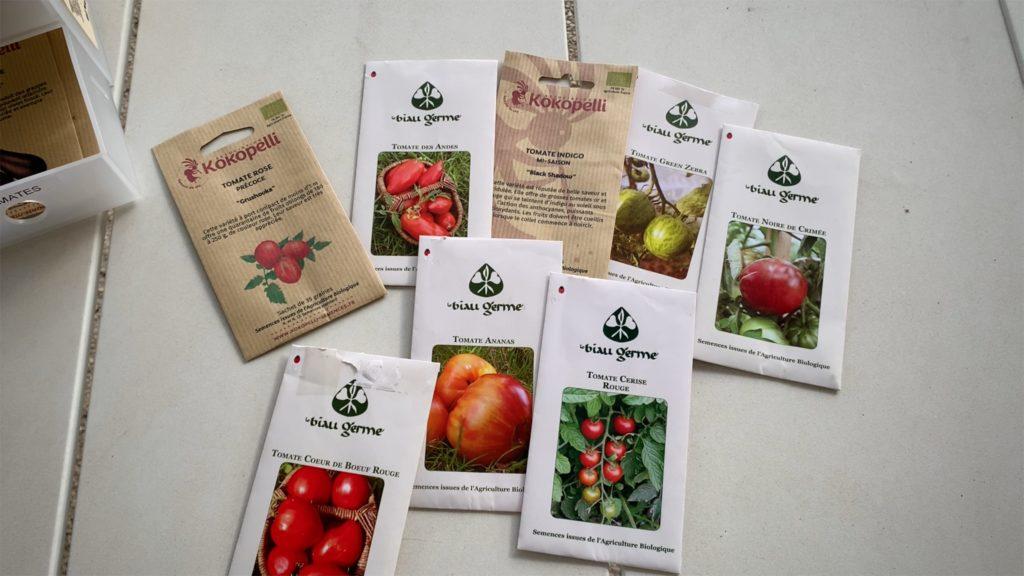 Ma sélection de graines de tomates 2020 - Serfouette & Binette