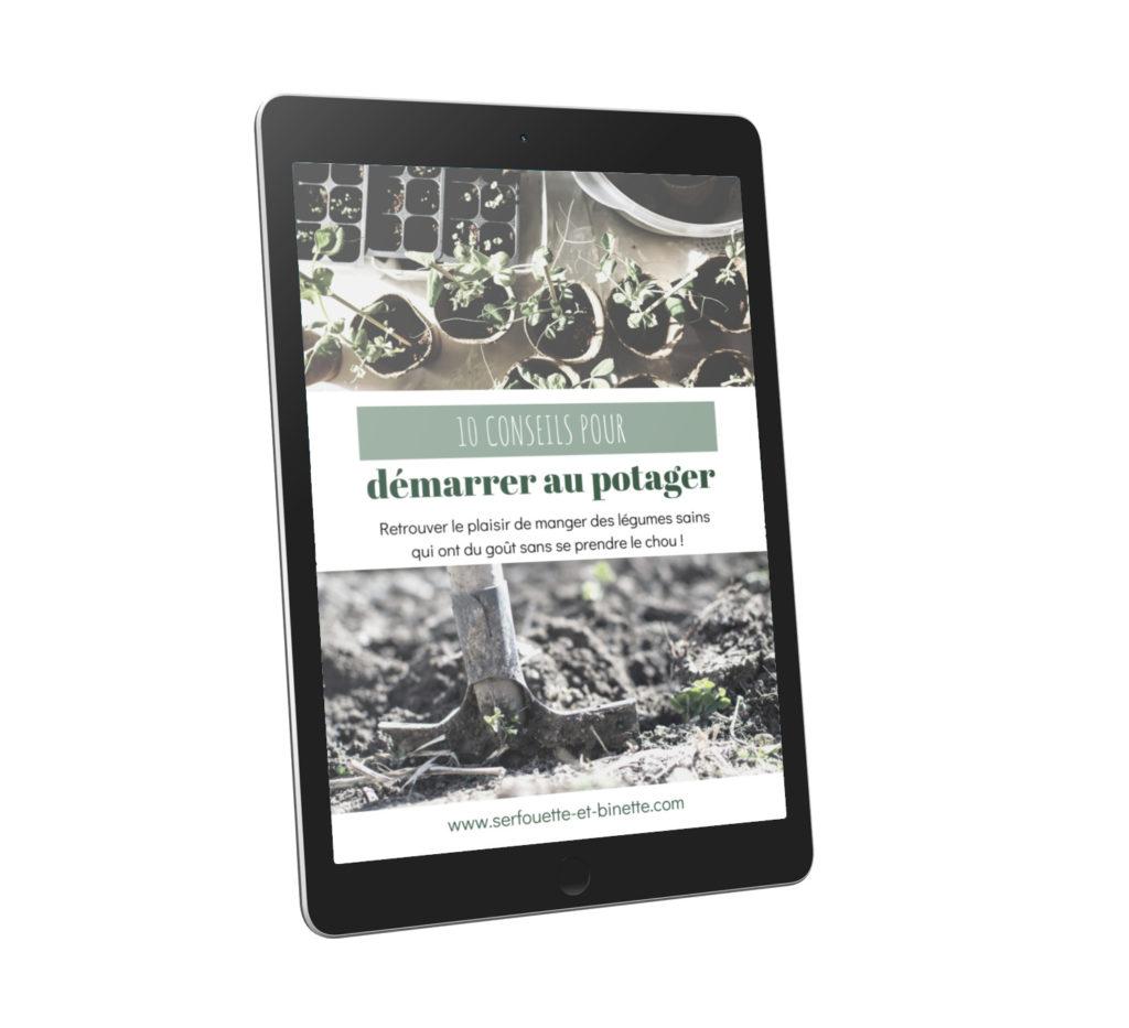 Couverture IPAD ebook 10 conseils pour bien démarrer au potager
